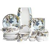 Creatividad Set de vajillas de China de China, 60 Piezas Placas de Ensalada de cerámica/Cuencos/Platos/Platos Platos Set Combi Set para reuniones Familiares, Restaurantes temáticos