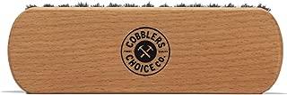 Cobbler's Choice Premium Shoe Brush - 100% Horsehair Shoe Brush - Concaved Handle for Premium Grip