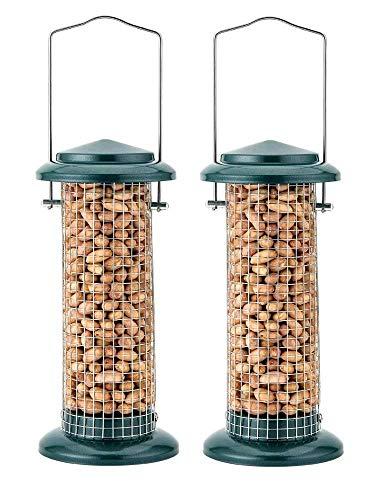Lot de 2mangeoires de luxe Heritage 10170pour oiseaux sauvages - Distributeur de cacahuètes à accrocher - En métal - 25,4cm