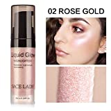 Face Flüssig Highlighter Glow Makeup Shimmer Liquid Highlighter Augen Gesicht Glitzer Brighten...