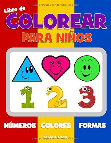 Libro de colorear para niños. Números Colores Formas:...