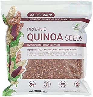 Nature's Superfoods Organic Red Quinoa Seeds 1kg