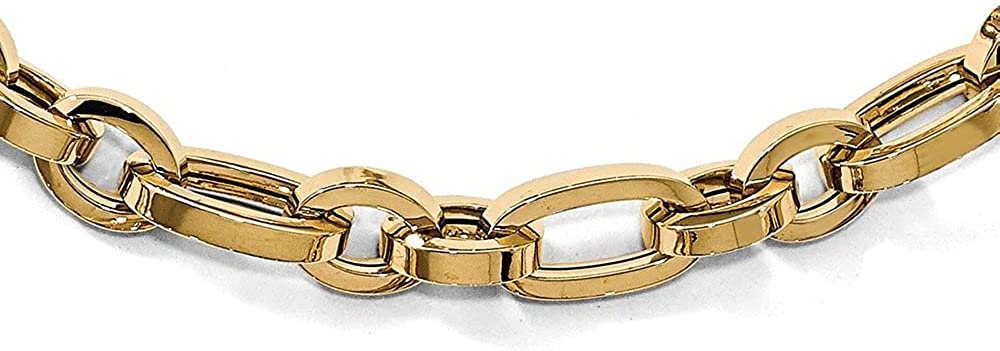 Diamond2Deal Leslie's 14k Yellow Don't miss the campaign Gold Neckla Link Virginia Beach Mall Polished Fancy