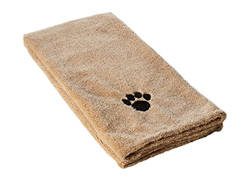 """Ultra-Absorbent Pet Bath Towel for Small, Medium, Large Dogs and Cats, Machine Washable 44"""" x 28"""" Inch."""