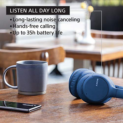 Sony Noise Cancelling Headphones WHCH710N: Wireless Bluetooth Over The Ear Headset with Mic for Phone-Call, Blue (Amazon Exclusive) (WHCH710N/L) 3