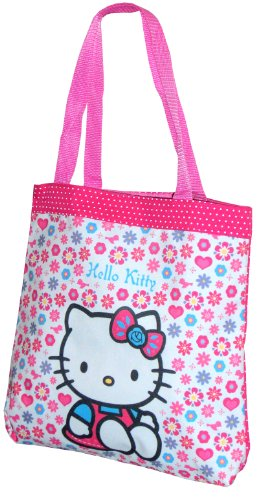 Sac tote Rose Hello Kitty Folksy Fille - Book bag- shopping bag