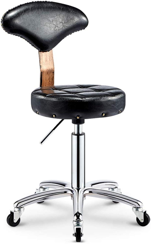 Aidriney- Beauty Chair Bar Chair Chair Front Chair redatable Bar Chair Lift Bar Stool Hairdressing Stool with Backrest (color   B)