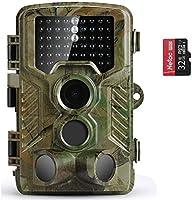 COOLIFE Wildkamera Fotofalle 21MP 1080P HD Jagdkamera Nachtsicht Bewegungsmelder IP67 Wasserdichter& Staubdicht...