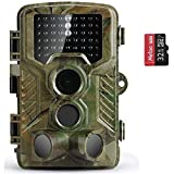 COOLIFE Fotocamera caccia 21MP 1080P HD Macchine Fotografiche da Caccia di Fototrappola con Infrarossi Visione Notturna 82ft 49pcs IR LED 125°Schermo LCD 2.4 con scheda microSD da 32GB