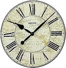 Rhythm Brown Wooden Wall Clock Ø35.6x3.5cm-