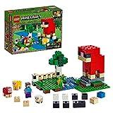LEGO21153MinecraftlaGranjadeLana,KitdeconstrucciónconminifiguradeSteveyFigurasdeuna...