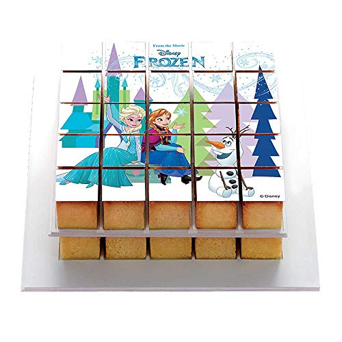Pixcake - Le 1er Puzzle gourmand! - Kit Pâtisserie Reine des neiges - Set Complet avec Moule Silicone Silikomart + 1 Décor Gâteau + Supports - Pixmoule Inclus