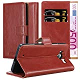 Cadorabo Book Case works with Nokia Lumia 950 in WINE RED -