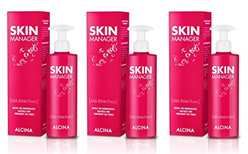 3er Skin Manager AHA Effekt Tonic pflegende Kosmetik Alcina je 190 ml = 570 ml