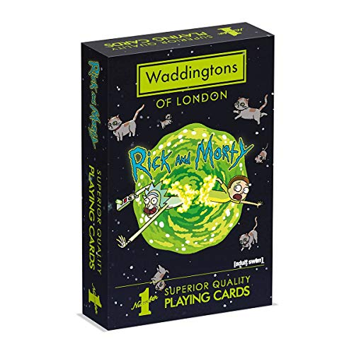 Waddingtons Playing Cards Rick and Morty-Juego de Cartas, Color (Winning Moves WM00039-EN1-12)