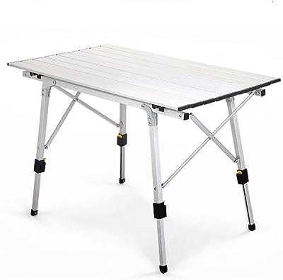FDABFU Mesa de Camping portátil de Aluminio Mesa Plegable ...