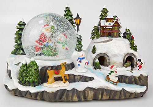 Christmas Concepts 29cm Navidad Decoración de Navidad con Navidad Snow Globe + Moving Train con Luces LED Battery Run