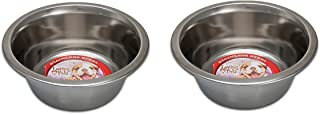 Loving Pets (2 Pack) Standard Stainless Dish Dog Bowl, 5-Quart Each