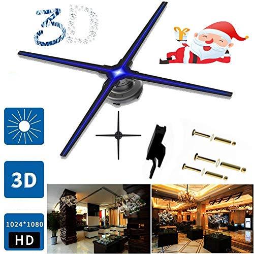 Proyector De Holograma 3D,3D HD Ventilador De Pantalla Giratoria A Simple Vista Holograma LED 3D 1022 Cuentas De Lámpara LED Resolución De 1024 * 1024 HD Publicidad De Holograma 3D 70 Cm