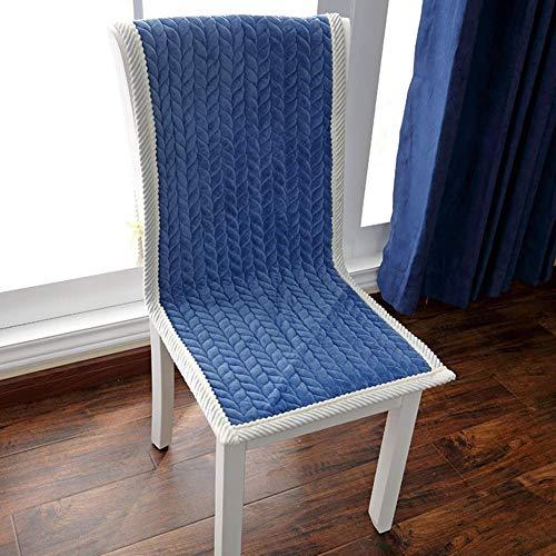 XHNXHN Cojín de banco Tatami de color sólido, antideslizante, para patio, largo, para sofá, bahía, ventanas, alimentos, interior y exterior, 45 x 135 cm, color azul