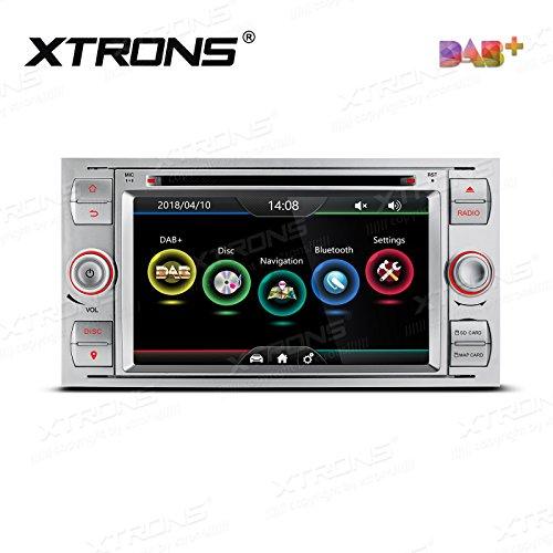 XTRONS Pantalla táctil digital HD de 7 pulgadas, doble canbus, radio estéreo para coche, reproductor de DVD, GPS, función de duplicación integrada DAB+ Kudos Map