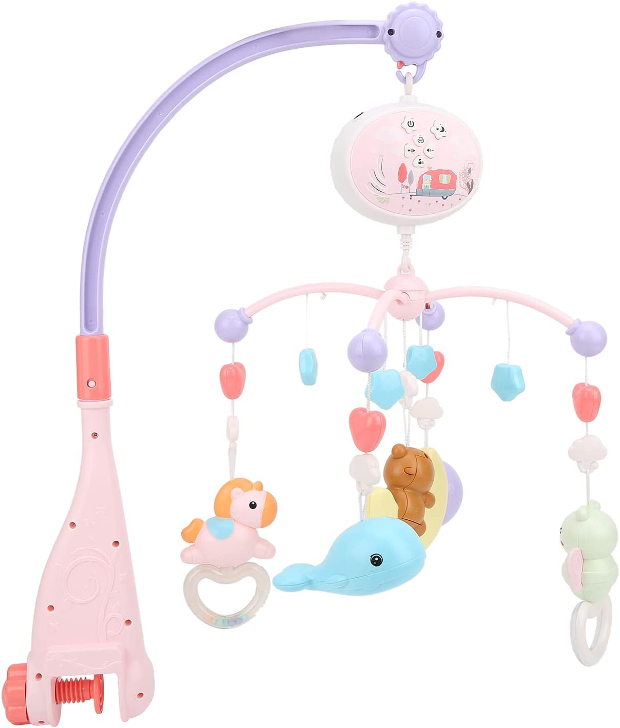 Zerodis 4 years warranty Baby Musical Crib Mobile Hanging with Rotating Sta Bell 2021 autumn and winter new
