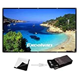 120 Inch 16:9 Portable Projector Screen High Contrast Collapsible PVC...