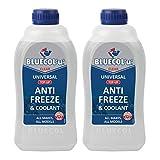 Bluecol 2 x U Universal Anti Freeze & Coolant Top Up 1 Litre - All Makes All Models