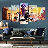 ZKSB 5 Panel Wandkunst Film Pinguine Von Madagaskar Home