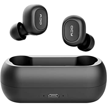 Amazon Com Qcy T1 Wireless Earbuds Tws 5 0 Bluetooth Headphones With Microphone Compatible For Iphone Android And Other Leading Smartphones Black Home Audio Theater