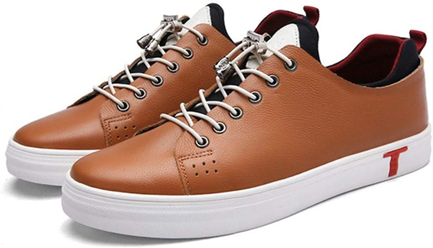 Casual Men's shoes Leather Size 24.0cm to 27.0cm Brown All Seasons Wear Board shoes Leisure