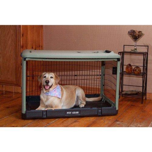"""Pet Gear The Other Door Steel Crates Sage 27"""" x 18"""" x 21"""" [Misc.]"""