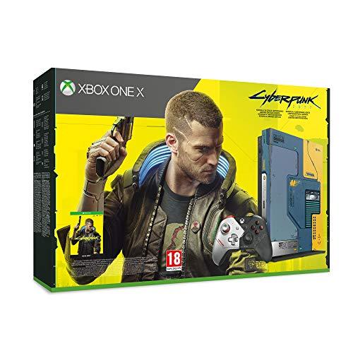 Xbox One X Cyberpunk 2077 Edizione Limitata, Console 1TB, Controller Wireless Cyberpunk Edizione Limitata, Microsoft