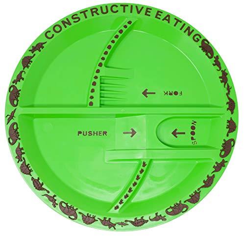 Constructive Eating KC70524 Dinosaur Plate for Toddlers, Infants, Papier