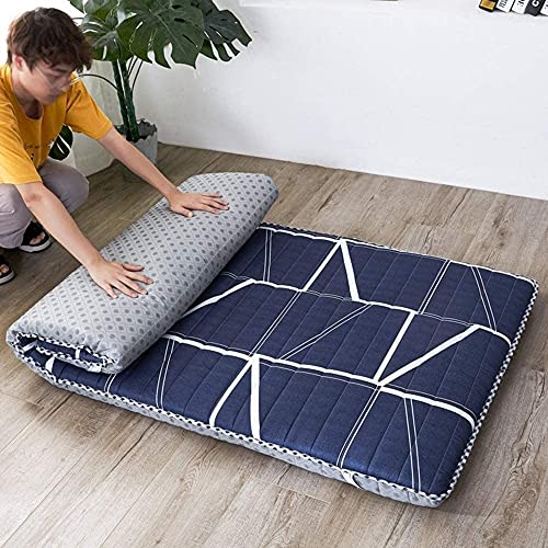 CHAJI Colchón de futón japonés Tradicional, colchón Plegable de Acolchado Colchón de Dormir Collery Four Seasons Disponible Colchones,C,90x190cm(35x75inch)