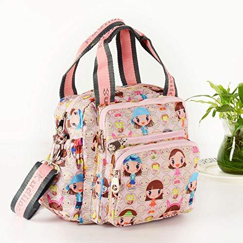 qiqiu mochila maternal Bolsa de maternidad, bolsa de pañales para bebés, bolsa de reemplazo de pañales, muñeca pequeña rosa Para Pañales y Biberones