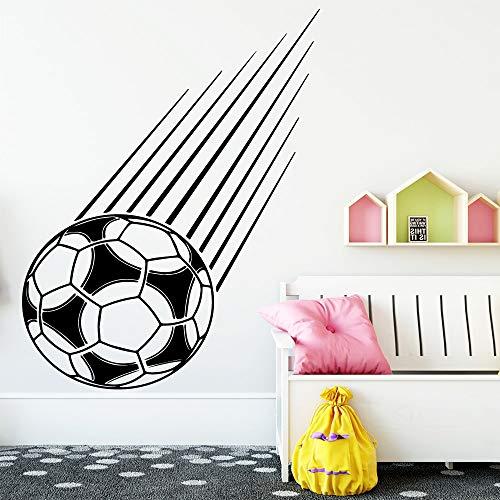 hetingyue Fun Familievoetbaldecoratie, vinyl, wandsticker, kinderwoonkamer, decoratie, wandtattoos, woonaccessoires