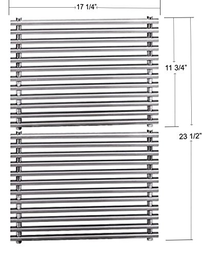 Stainless Steel 7527 9869 7526 7525 Cooking Grids For Select Weber Grill Models (Dimensions: 17 1/4 X 11 3/4