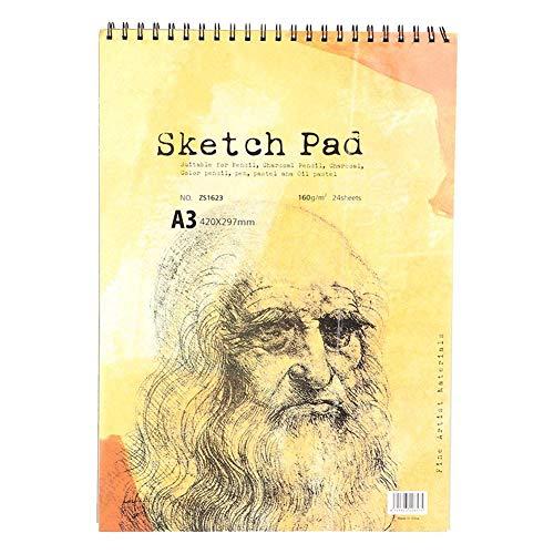 Nikou Cuaderno de bocetos, Cuaderno de bocetos A3 Cuaderno Diario Boceto Bloc de Notas Bloc de Notas para Pintura y Dibujo