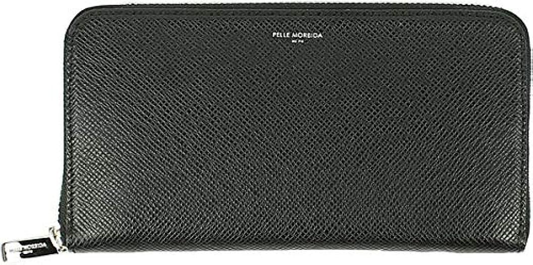 優先権穀物近々PELLE MORBIDA ペッレモルビダ 型押しレザー ラウンドジップ長財布 PMO-BA311 (ブラック)