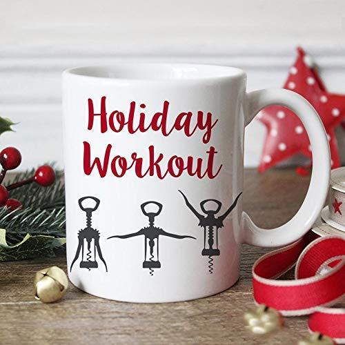 N\A Taza De Café Abridor De Vino Taza De Café De Navidad Divertida - Taza De Café De Entrenamiento De Vacaciones