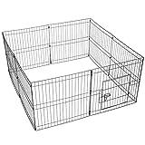 Yaheetech Parque para Perros Plegable Vallas para Perros Jardin Jaula de Cachorros Corral para Conejo Mascotas 61 * 61cm