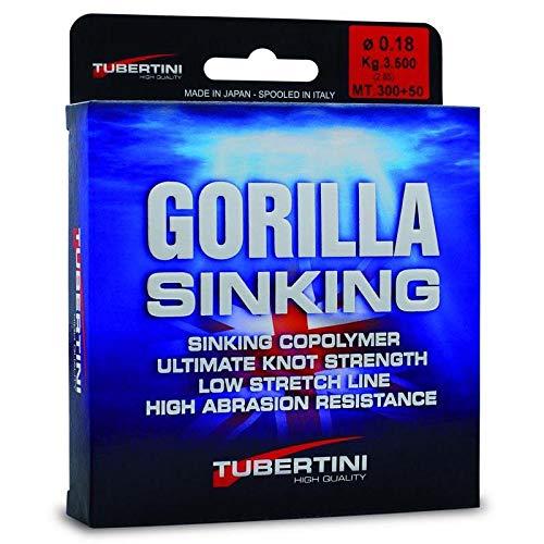 Tubertini Angelschnur Gorilla Sinking 0.14 mm 350 m Sinkend Meer Spinning Surfcasting Feeder