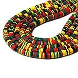BOSAIYA Zz0 Colorido 6mm Polimer Plano Redondo Clay Beads Chip Disco Spacer Suelto Granos Hechos a Mano para la joyería de Bricolaje Que Hace el Collar de la Pulsera Boho Tl0428 (Color : Type 13)