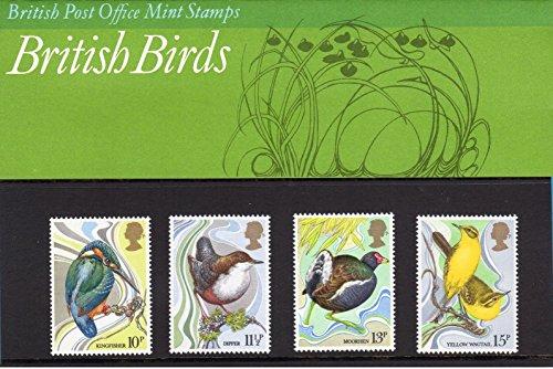 1980, Motiv: BRITISH BIRDS-Stempel Geschenkbox.