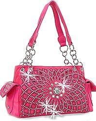 Pink Starburst Concealed With Rhinestone Handbag