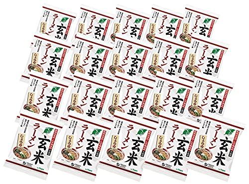 無添加 インスタントしょうゆラーメン(ベジ玄米ラーメン)112g×20個★特徴 ・国内産丸大豆を使った本醸造醤油使用 ・砂糖・動物性原料不使用 ・化学調味料不使用 330kcal/袋★原材料 めん[小麦粉(北海道・岩手産)、玄米粉(国内産)、小麦グルテン、