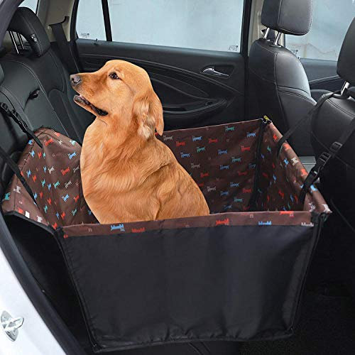 TTXP Artículos para Mascotas Patrón de Cachorro Marrón Camas para Perros Verano para La Mayoría de Los Vehículos