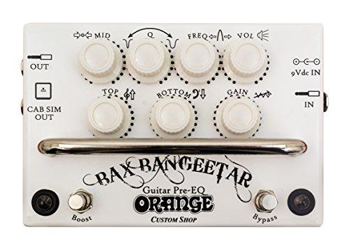 Orange BAX Bangeetar Guitar Pre-EQ Pedal ギタープリアンプペダル White