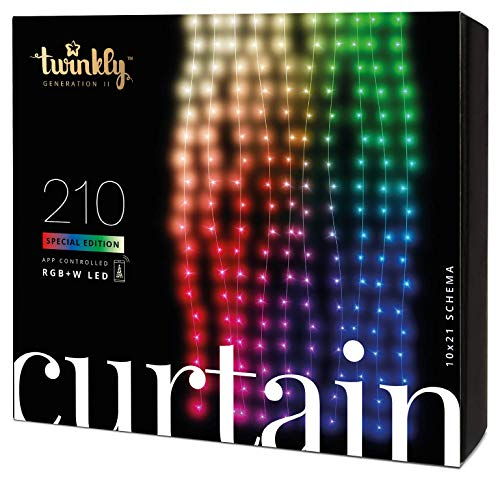 Twinkly - TWW210SPP Edition Spéciale 210 Guirlandes Rideaux LED Multicolores RGB +...